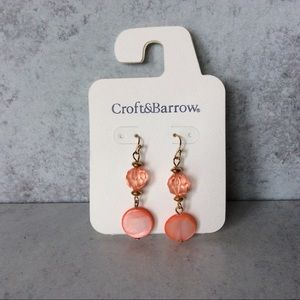 Croft & Barrow coral pierced earrings.